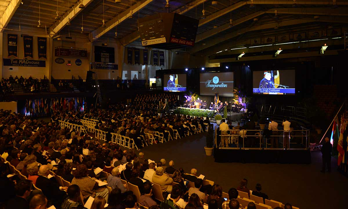Inauguration guests pack the Convocation Center
