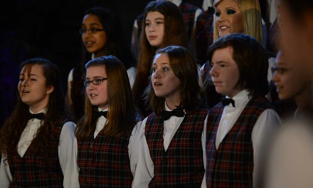 Eleanor Alger (third from left) sings in Shenandoah Valley Children's Choir