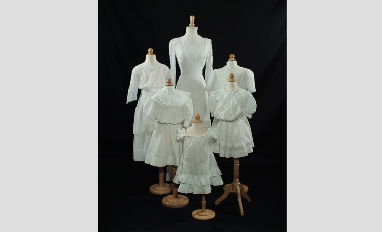 Antique white dresses