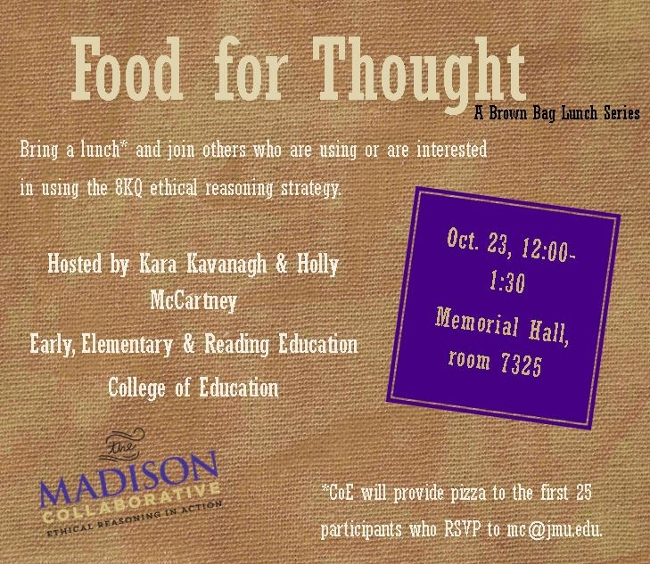 Food for thought flyer
