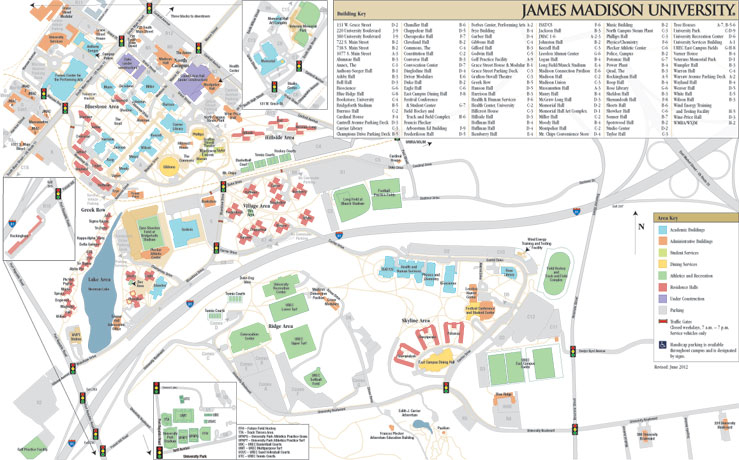 Campus Map: James Madison University