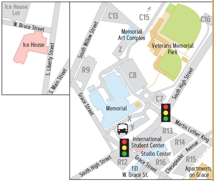 Campus Map: James Madison University: Bluestone Area