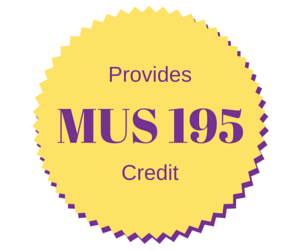 Provides MUS 195 Credit