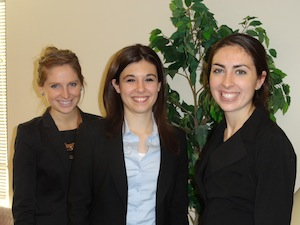 Photo of Google Online Marketing Challenge Winners Tara Goode, Rachel Krause and Nicole Behr