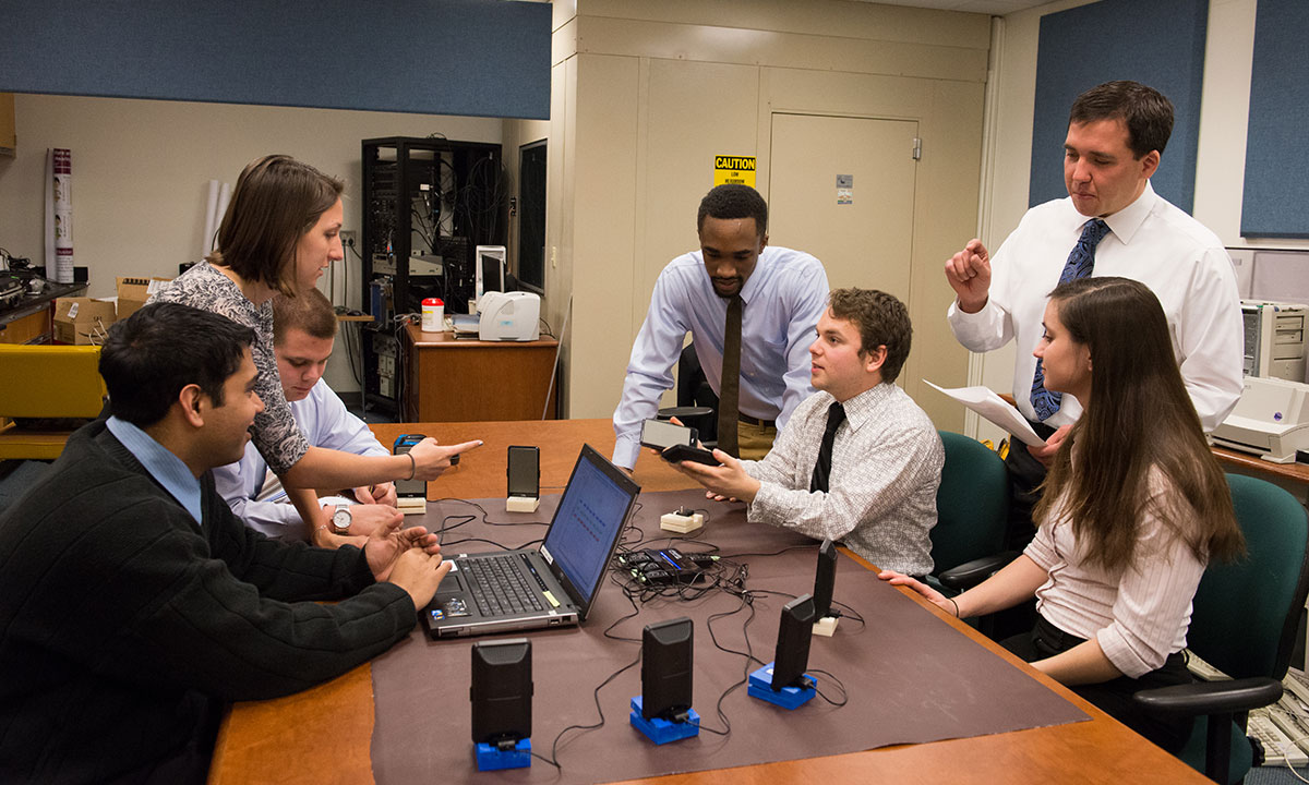 Students test a new invention that analyzes sound localization and hearing