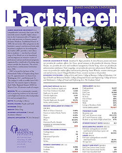 Cover of the JMU Factsheet