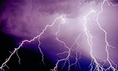 stock lightning photo to go with story about derecho research