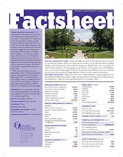 Cover of the JMU Factsheet
