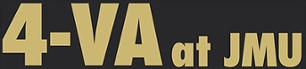 4-VA at JMU logo - gold lettering on black background