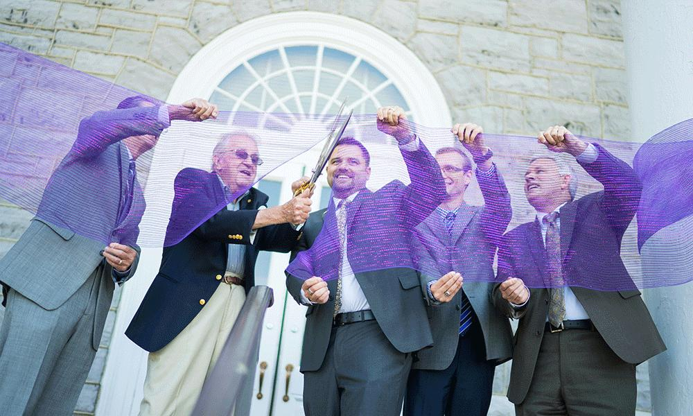 JMU officials cut ribbon to reopen Carrier Library door