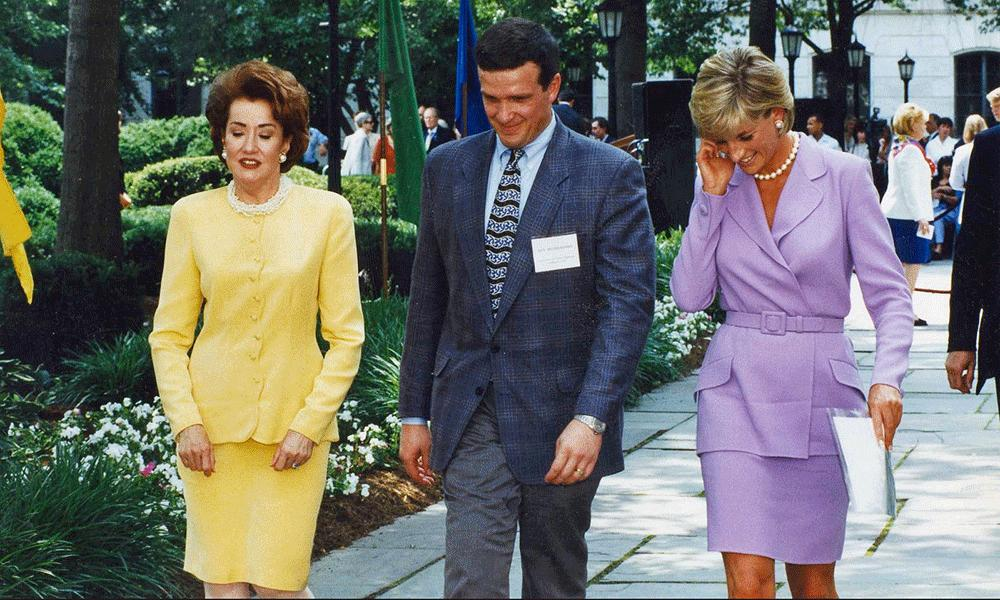 Photo of Ken Rutherford with Sen. Elizabeth Dole and Princess Diana