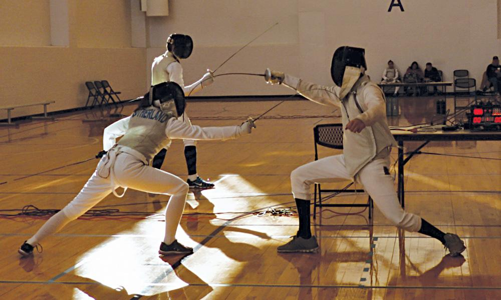 the club scene - fencing