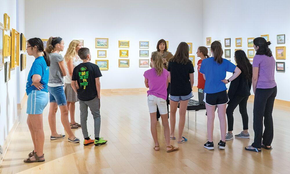 Summer Art Program students participate in a looking-versus-seeing exercise.