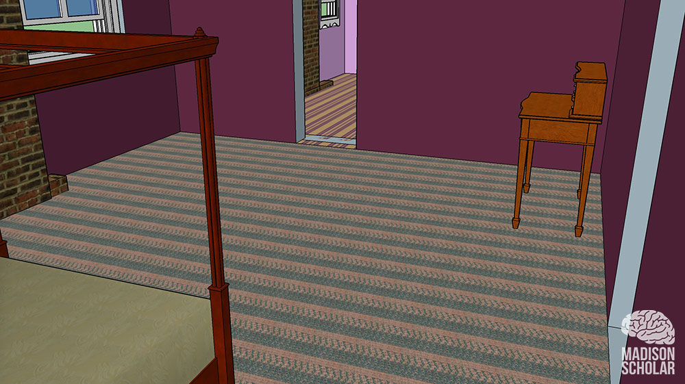 3D view of Abraham Lincolns bedroom