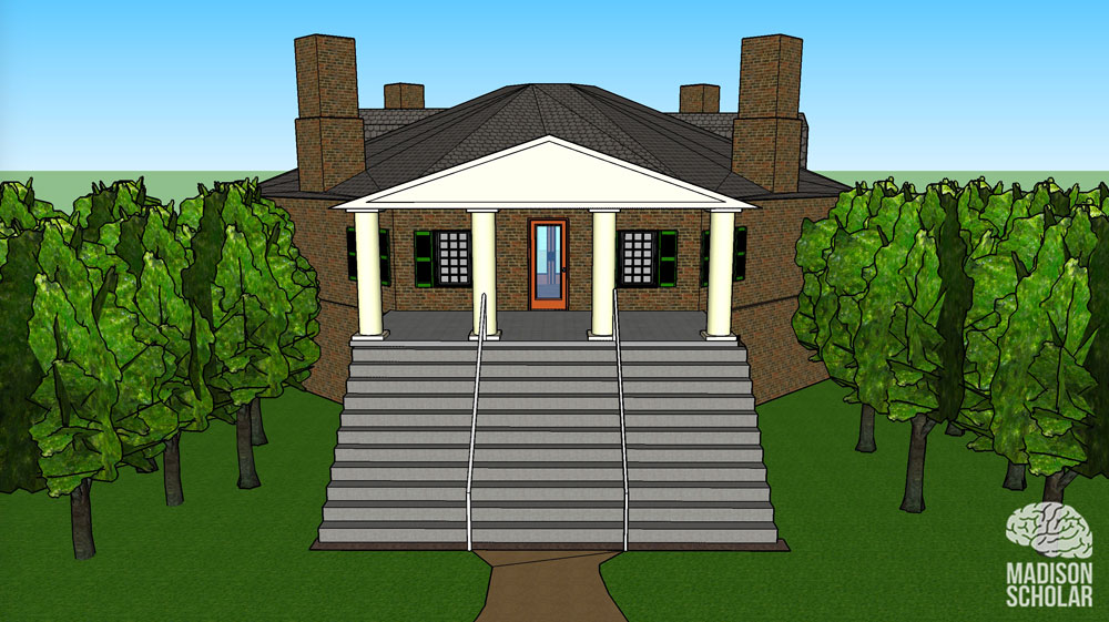 3d view of popular forest house