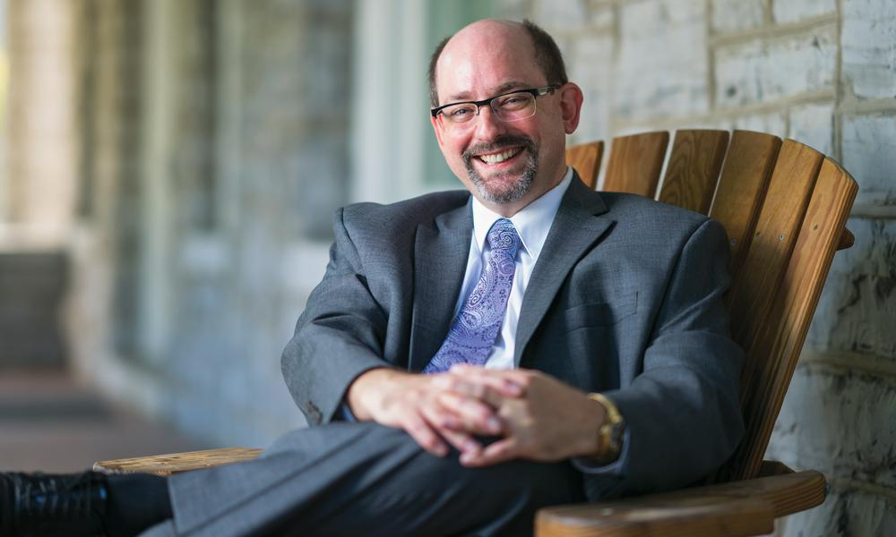 Portrait of JMU Honors College Dean Bradley Newcomer