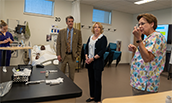 Cline visits School of Nursing - thumb