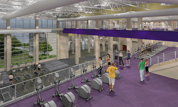 rendering of the fitness area