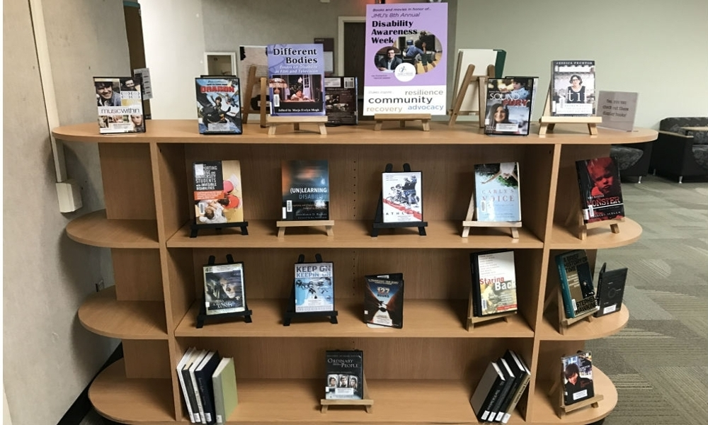 Disability Resources Display in Carrier Library