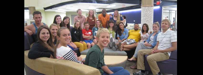 Image: Check out all of these smiling faces! These are our awesome student staff members at ODS!