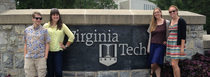 Image: Our Accessible Media summer staff took a field trip to Virginia Tech to learn about their Braille Services program.
