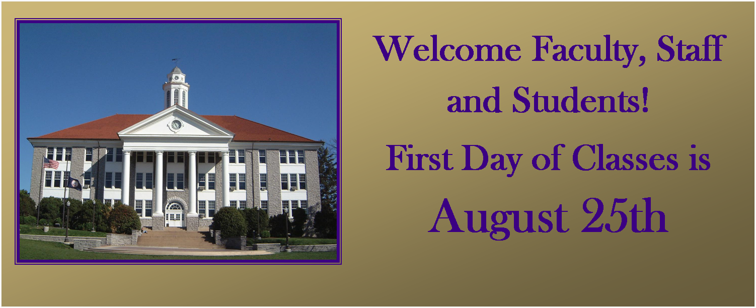 Image: First Day of Classes is August 25