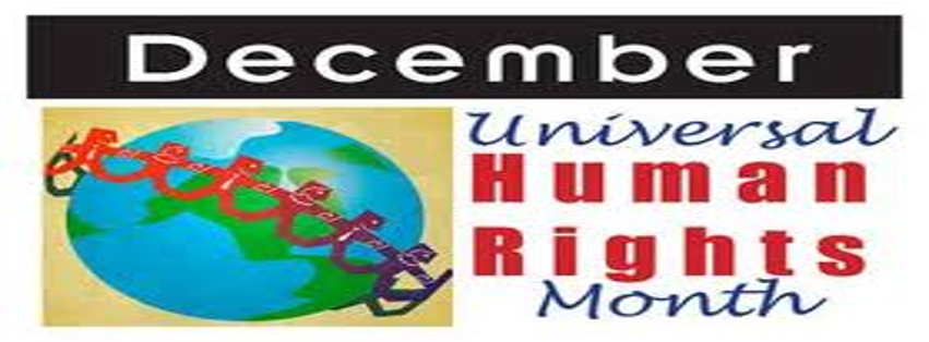 Image: December is Universal Human Rights Month