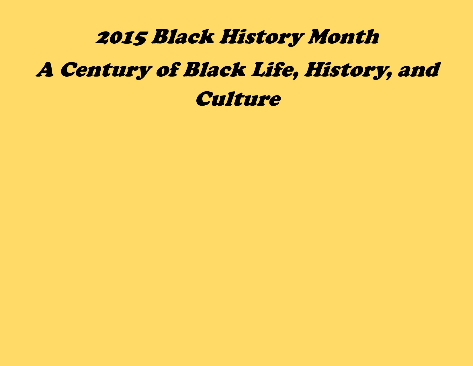 Image: Black History Month