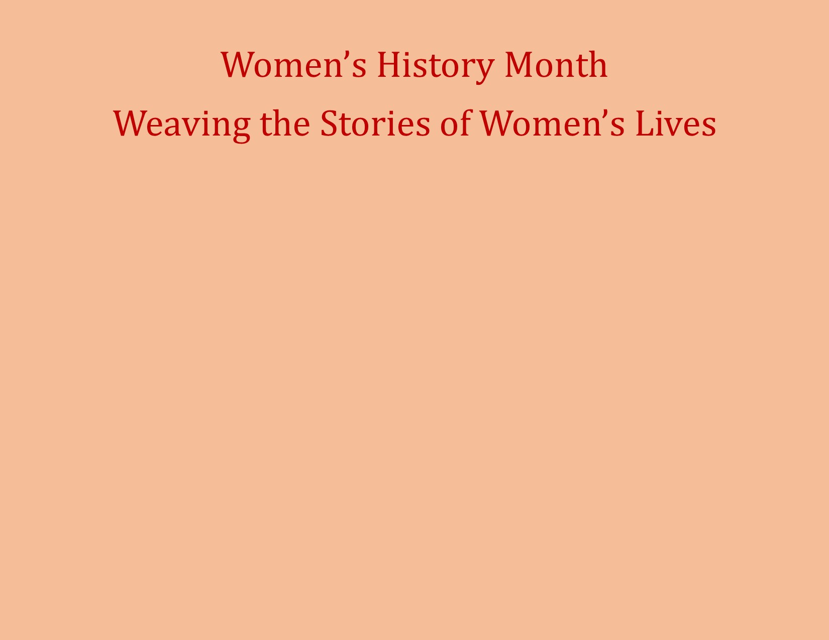 Image: 2015 Women's History Month