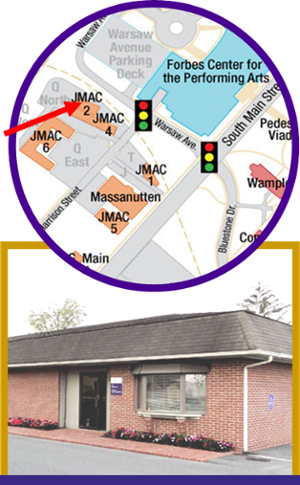 Map of OEO office location and photo of the front of the office.