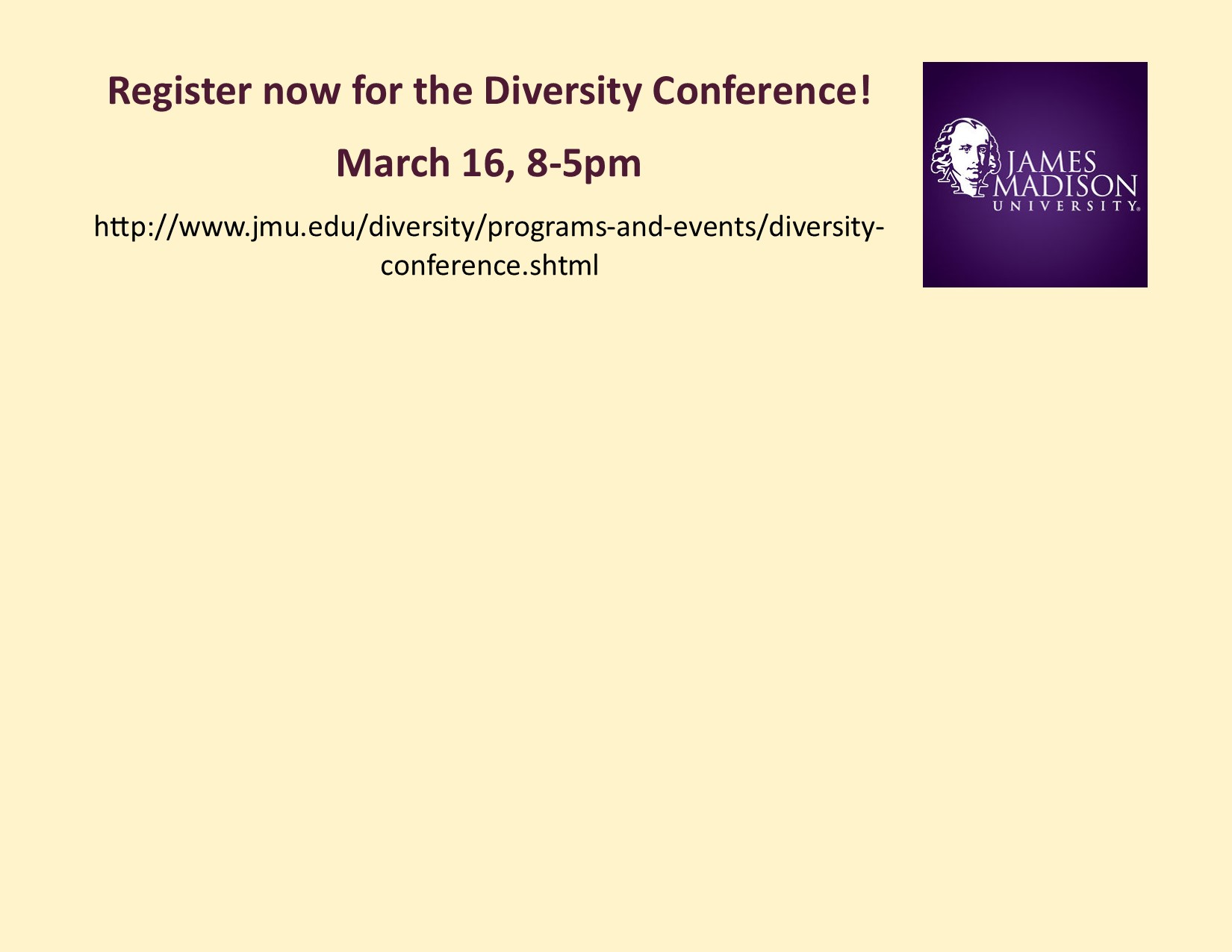 Image: Register for the Diversity Conference!