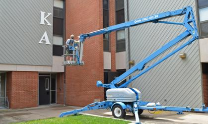 KA letters being hung