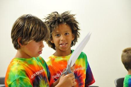 two students in tie die