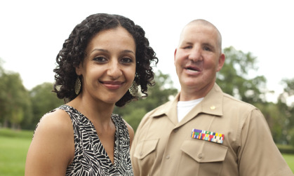 Major Justin Constantine ('92) and his wife Dahlia