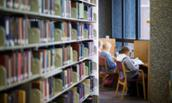 Students study in Carrier Library