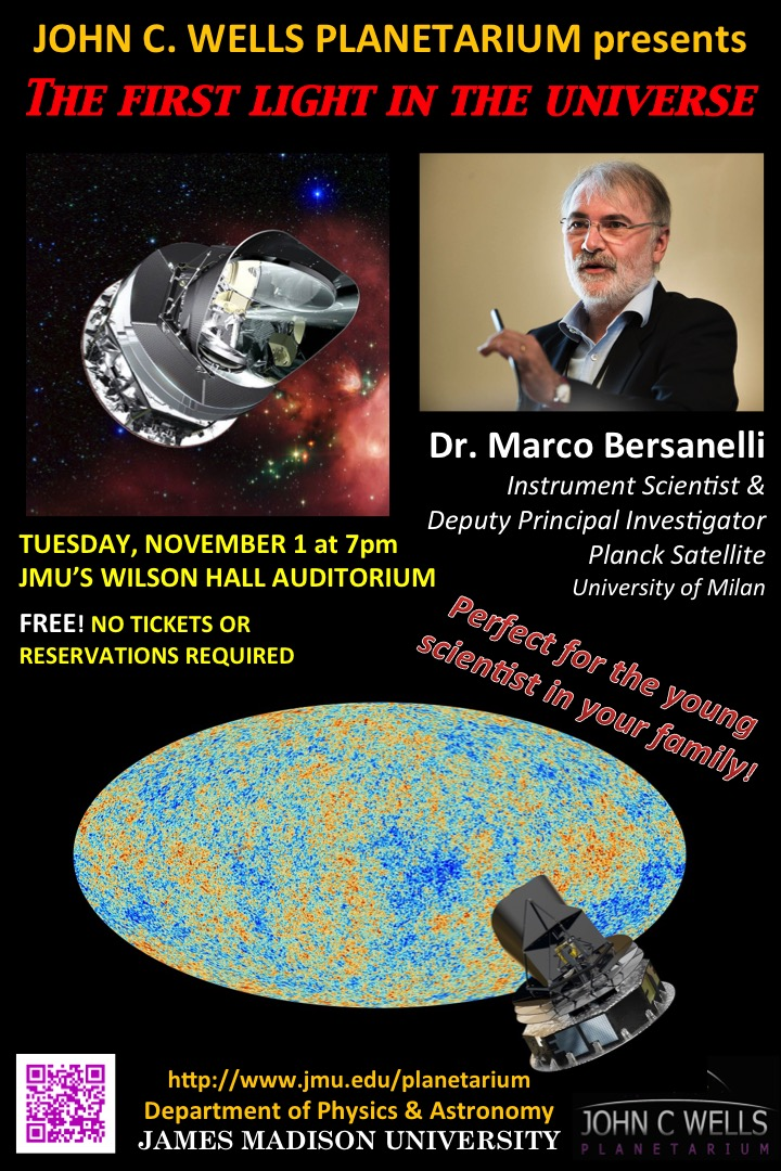 The First Light in the Universe, Dr. Marco Bersanelli