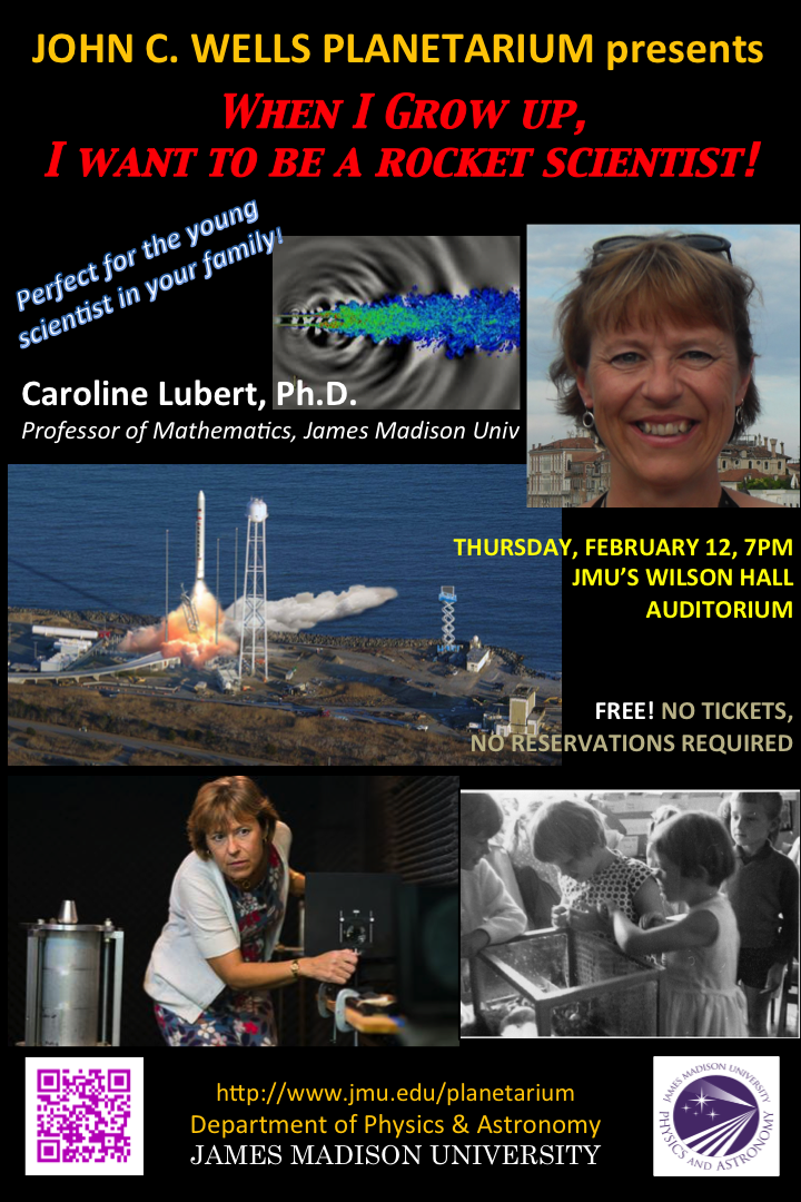 WHEN I GROW UP, I WANT TO BE A ROCKET SCIENTIST! FEB 12 at 7pm