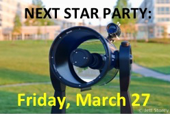 JMU Star Party at Astronomy Park, March 27, 2015