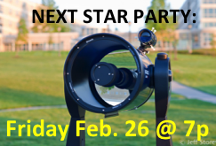Next Star Party is Friday, January 30!