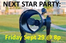 September 2017 Public Star Party at 8p