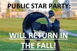 JMU Public Star Parties will return in the Fall!