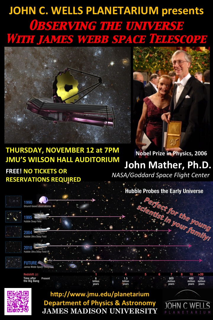 Nobel Laurete Dr John Mather Visits JMU