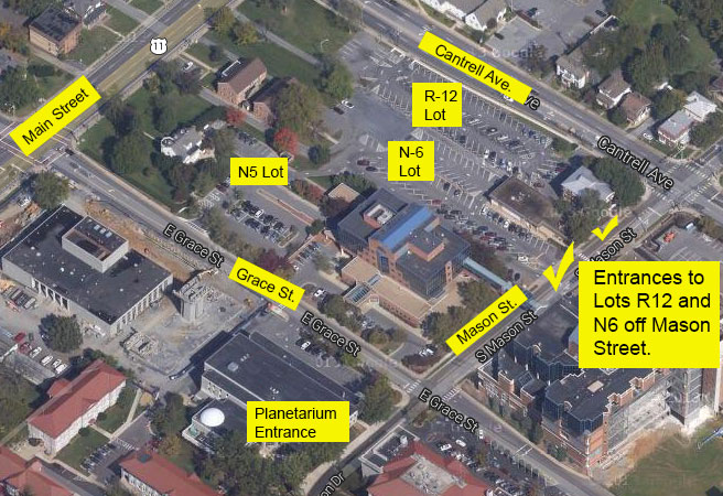 Planetarium Parking Map