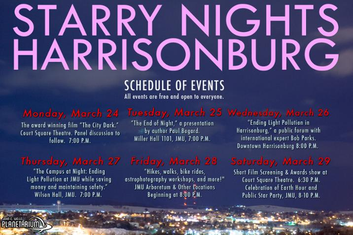 Starry Nights Harrisonburg Schedule of Events