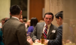 Dan Richardson ('12) and attendees at the Madison Library of Congress Reception