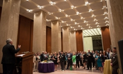 President Alger addresses attendees at the Madison Library of Congress Reception