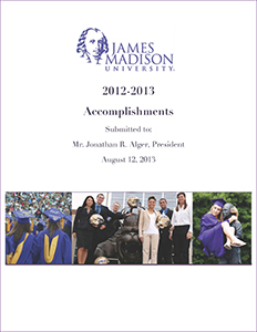 Report on university accomplishments during 2012-13 presented to President Alger