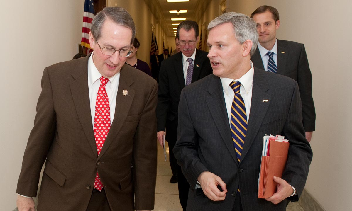 President Alger with Rep. Bob Goodlatte
