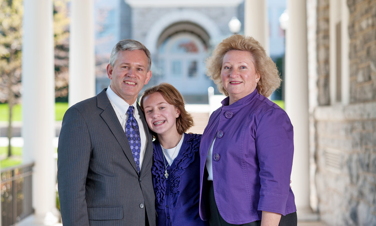 President Alger and family