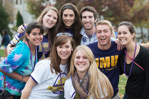 Students at Homecoming 2012